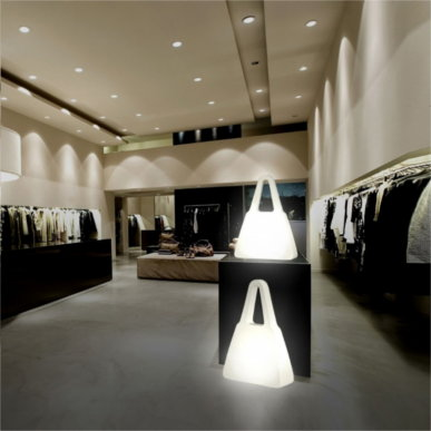 Beleuchtete Shopping Bags