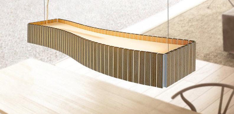 Pendelleuchte Uxi mit verschiedenen Holzfarben
