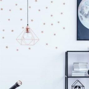 Kupferfarbene Trendlampe
