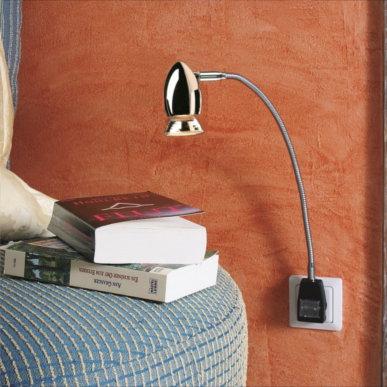 Praktische Beleuchtung für die Steckdose