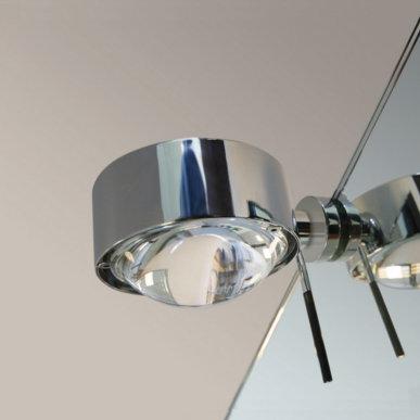 Große Lichtwirkung mit Spiegelklemmleuchte Puk Fix